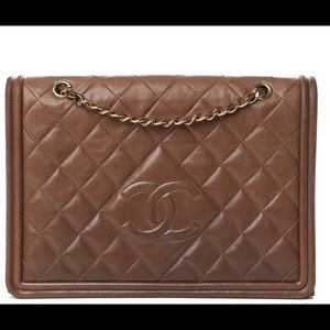 chanel lambskin small single flap brown